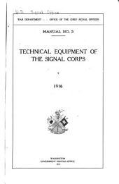 Technical Equipment of the Signal Corps: 1916