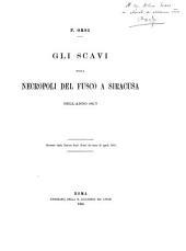 Gli scavi nella necropoli del Fusco a Siracusa nell'anno 1893
