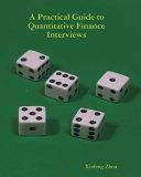 Practical Guide to Quantitative Finance Interviews PDF