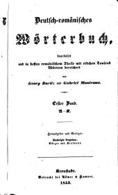 Deutsch-romänisches Wörterbuch: Bände 1-2
