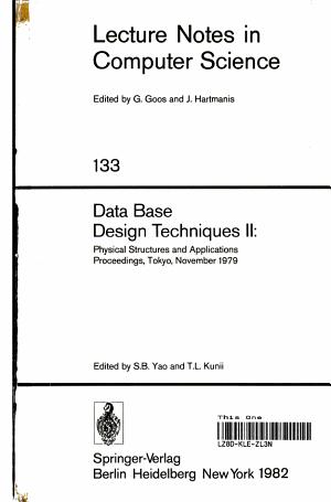 Data Base Design Techniques II