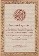 Sanskrit Syntax PDF