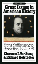 Great Issues in American History, Vol. I