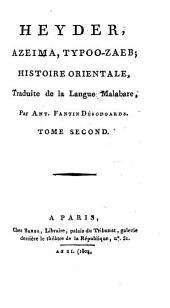 Heyder, Azeima, Typoo-zaeb;: histoire orientale, traduite de la langue malabare,