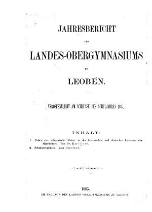 Ueber vier allegorische Motive in der lateinischen und deutschen Literatur des Mittelalters PDF