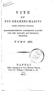 Vite de' Piu Celebri Marini Tomo XIII