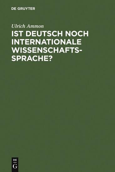 Ist Deutsch noch internationale Wissenschaftssprache  PDF