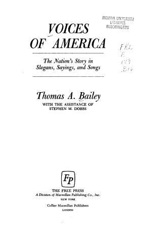 Voices of America PDF