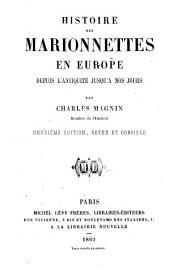Histoire des marionnettes en Europe depuis l'antiquité jusqu'à nos jours par Charles Magnin