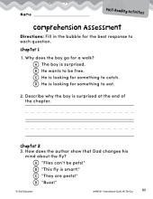 Hi! Fly Guy Comprehension Assessment