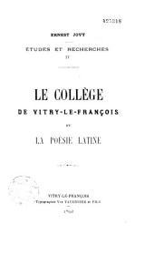 Le collège de Vitry-le-François et la poésie latine