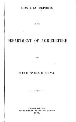 Monthly Report of the Department of Agriculture  for