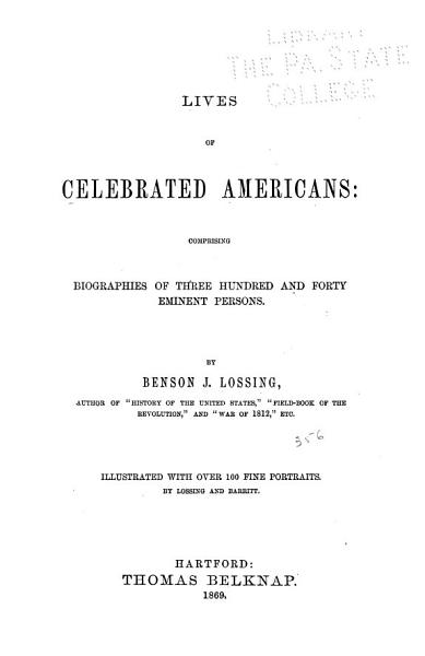 Lives of Celebrated Americans PDF