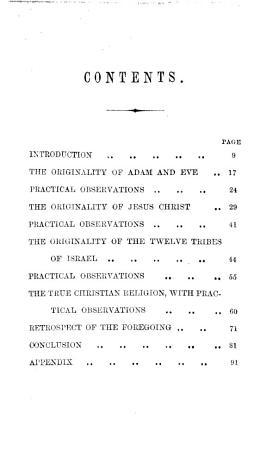 From Nature s Book of Life  The origin of Adam and Eve  the origin of Jesus Christ  etc PDF