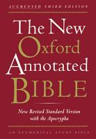 The New Oxford Annotated Bible with the Apocryphal Deuterocanonical Books PDF