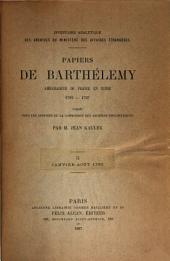 Papiers du Barthélemy: Volume2