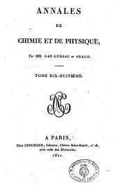 Annales de chimie et de physique: Volume18