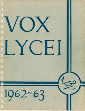 Vox Lycei 1962-1963