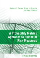 A Probability Metrics Approach to Financial Risk Measures PDF
