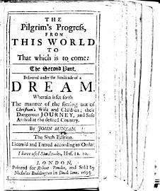 The Pilgrim S Progress     The Second Part  Etc  With Three Plates