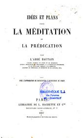 Idées et plans pour la méditation et la prédication