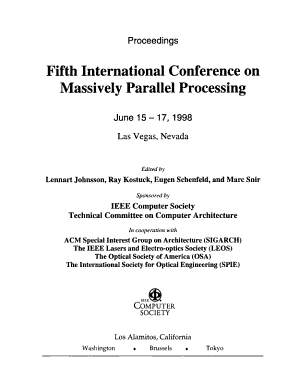 Fifth International Conference on Massively Parallel Processing