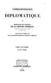 Correspondance diplomatique de Bertrand de Salignac de la Mothe Fénélon, ambassadeur de France en Angleterre de 1568 à 1575: Année 1569, Volume2