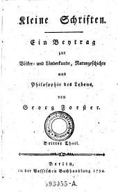 Ein Bentrag zur Bolfer und Landerkunde, Naturgeschichte und Philosophie des Lebens