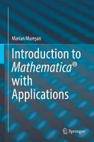 Introduction to Mathematica   with Applications PDF