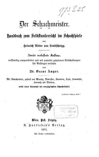 Der schachmeister PDF