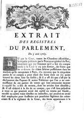 """Extrait des registres [déterminant le rôle de Bronod, """"économe-général des biens des cidevant soi-disant Jésuites""""]"""