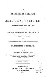 An Elementary Treatise on Analytical Geometry