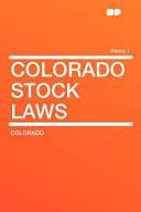 Colorado Stock Laws