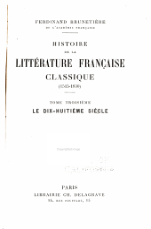 Le dix-huitème siècle. [1913