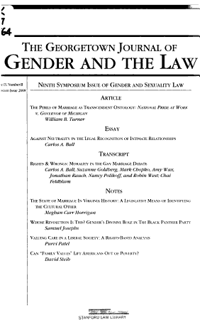 Ninth Symposium Issue of Gender and Sexuality Law PDF