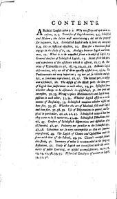 Reflexions Upon Logick..