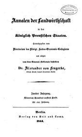 Annalen der Landwirtschaft in den königlich Preussischen Staaten: Band 4
