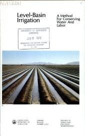 Level-basin irrigation: a method for conserving water and labor