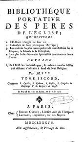 Bibliothèque portative des Pères de l'Eglise: Volume2
