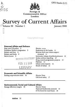 Survey of Current Affairs PDF