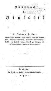Handbuch der Diätetik