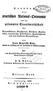 Handbuch der Practischen Rational=Oeconomie