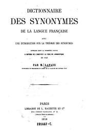 Dictionnaire des synonymes de la langue française: avec une introduction sur la théorie des synonymes