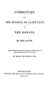 Commentary Upon the Epistle of Saint Paul to the Romans