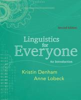 Linguistics for Everyone  An Introduction PDF
