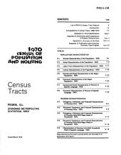 1970 census of population and housing: Final reports. census tracts, Volume 158