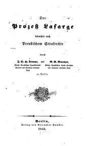 Der prozess Lafarge beleuchtet nach preussischem strafrechte