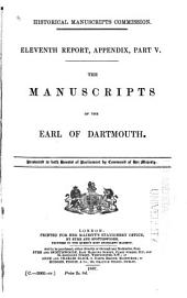 The Manuscripts of the Earl of Dartmouth: Volume 1
