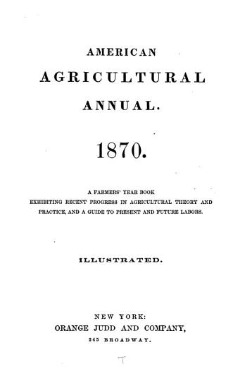 American Agricultural Annual PDF