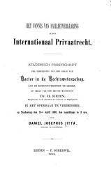 Het Vonnis Van Faillietverklaring In Het Internationaal Privaatrecht